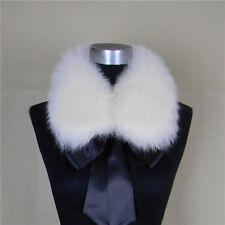 100% Real Fox Vulpes lagopus Fur Collar Women Scarf Shawl Stole Wrap Furry Neck