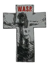 W.A.S.P. - Cross Shaped Woven Patch Rare Heavy Metal WASP Blackie Lawless