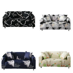 1-4 Seaters Stretch Sofa Covers Couch Cover Elastic Slipcover Living Room