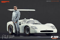 1:18 Phill Hill Chaparral figurine VERY RARE !!! NO CARS !! for diecast by SF