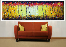 "80"" art painting texture canvas abstract BushFire by jane crawford COA Australia"