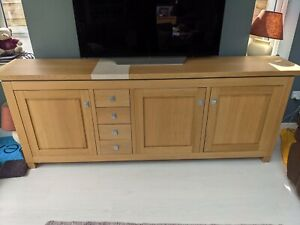 Solid Pine Furniture Set. Sideboard, Console Table, 3 Tables And Mirror - Used