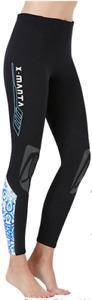 Ladies 1.5mm Neoprene Wetsuit Leggings. Blue Design. Kayak, Canoe, SUP