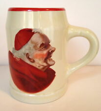 Monk Flagon Mug with Red Trim Made by Hall China Looking to the center