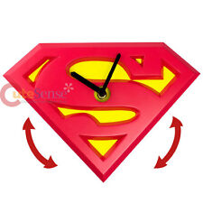 DC Comics Superman Logo Wobble Clock Wall Clock Moving Watch