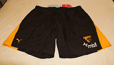 Hawthorn Hawks AFL Mens Brown Embroidered Puma Training Shorts Size XXL New