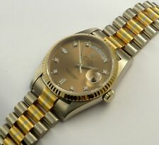 EXTREM SELTEN!!!ROLEX OYSTER PERPETUAL DAY DATE 18k TRIDOR REF.18239 PAPIERE/BOX