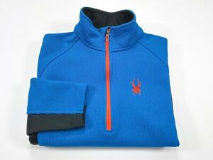Spyder S Men's Outbound Core Jacket Half Zip Sweatshirt Sweater Black Blue