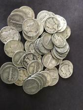 Mercury 1/2 Half Troy Pound Lb U.S.Mercury Dimes Silver Coins No Junk Pre-1965 !
