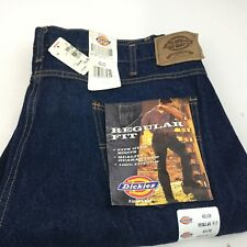 Vtg Dickies Work Jeans NWT Regular Fit Straight Leg Fits Over Boots Sz 42  X 30