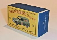 "Matchbox Lesney No 59 FORD ""SINGER""VAN empty Repro D style Box"