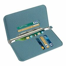 Reiko Universal Wallet Phone Case/Card Holder Pocket iPhone 7,8 Plus Blue Green