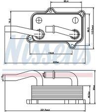 Scambiatore di calore (Acqua / Olio) W220 Mercedes S-Series Benzina da 99 NUOVO