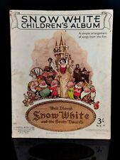 More details for vintage 1930's disney snow white children's album