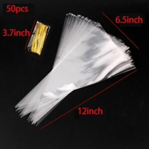 Gift Bags Cones Transparent Plastic Bag Kids Birthday Candy Bag Party Decoration