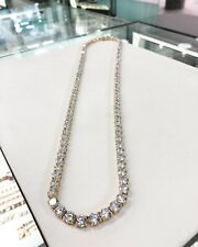 925 Sterling Silver Tennis Chain Gents FULL Cubic Zirconia Stones