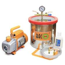 BACOENG 3.0 Gallon Vacuum Chamber with 3.6 CFM 1 Stage Vacuum Pump HVAC US STOCK