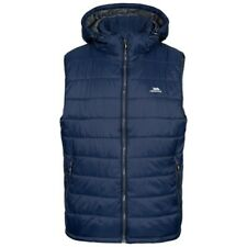 Mens Trespass Franklyn Insulated Hooded Padded Gilet Jacket Navy Blue