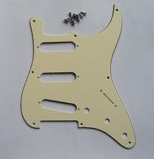 Light Cream 8 Hole Vintage ST Strat Pickguard Scratch Plate fits USA Fender
