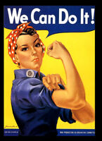 -A3 Size Wall Poster Art Deco - We Can Do It Rosie Riveter War 1942 Print -#16