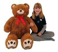 Coccoloso Gigante Orso 100cm Peluche colore Miele,Regalo Perfetto Bambini Adulti