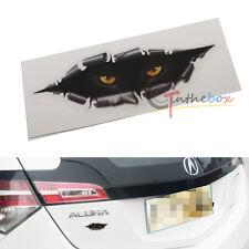 (1) Funny Car Vinyl Sticker 3D Peeping Cat Eyes Terror Simulation Freak Decal