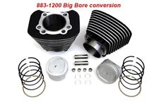 883-1200 CYLINDER & PISTON BIG BORE Back / milled edge KIT HARLEY SPORTSTER 04 +