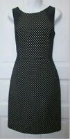 BANANA REPUBLIC Women's Blue Polka Dot Contour Fitted Pencil Dress.Size UK 8P.
