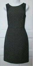 BANANA REPUBLIC Women's Blue Polka Dot Contour Fitted Pencil Dress.Size UK 8P.