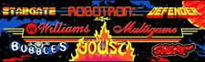 Williams Multi Game Arcade Marquee – 26″ x 8″