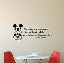 Walt Disney Quote Wall Decal There Is More Treasure Vinyl Sticker Poster Art 471