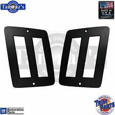 73-77 El Camino REAR Side Marker Light Lamp Lens BEZEL GM Tooling USA  -  PAIR