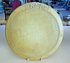 More details for vintage round wooden bread board