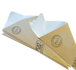 Compostable Chip Cones Kraft Paper Card recyclable fries scoop Cone