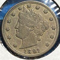 1891 5C Liberty Nickel (59326)