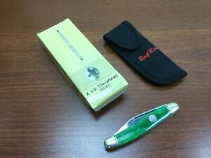 X Lg Sowbelly Stockman pocket knife Green Bone Smooth Handles Rough Rider knives