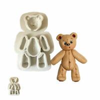 Bear Fondant Chocolate Mould Cake Decor Mold Baking Tool Silicone Sugarcraft DIY