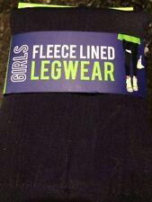 Fleece leggings Blue Star Clothing Company Girls Size Small 6/6X Dark Blue/Black