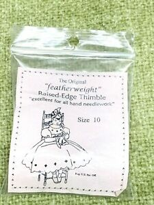 Featherweight Raised Edge Thimble Size 10 Silver by Needleart Guild