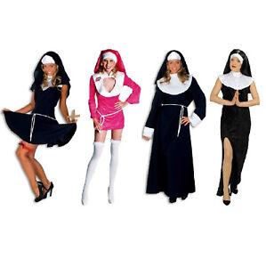 Nonnen Kostüm Kleid Nonne Ordensfrau Kutte Damen Herren Robe Nonnenkostüm Hippy