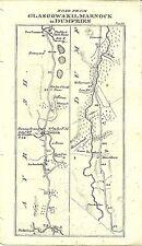 Antique map, Glasgow & Kilmarnock to Dumfries (2)