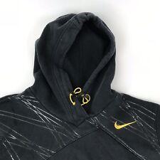 Nike Pullover Hoodie Sweatshirt Men's Large L Black •small hole