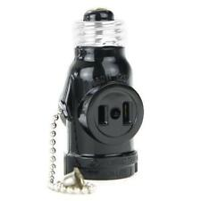 Sunlite Medium Base Socket Adapter with Pull Chain and power outlet