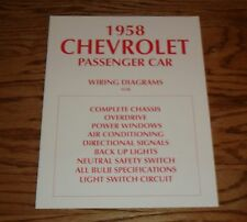 1958 Chevrolet Passenger Car Wiring Diagrams Complete Chassis 58 Chevy