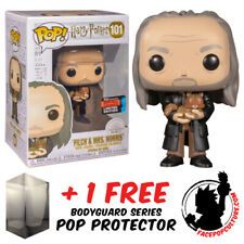 FUNKO POP HARRY POTTER FILCH AND MRS NORRIS NYCC 2019 EXCLUSIVE + POP PROTECTOR