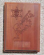 "I.S.C. Kodiak US Coast Guard Police 5""x7"" Wood Plaque"