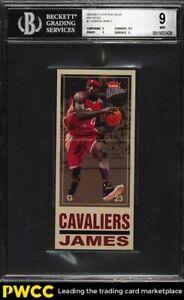 2003 Fleer Platinum Big Signs LeBron James ROOKIE RC #7 BGS 9 MINT
