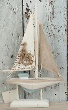 """Holz Segelboot Segler Boot Schiff """"Knoten"""" 23,5x14x3cm für die maritime Deko"""