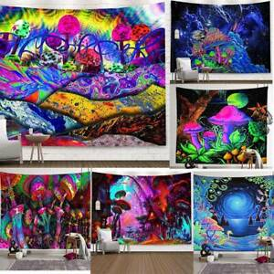 Trippy Psychedelic Mushroom Tapestry Background Hippie Wall Hanging / Home Decor