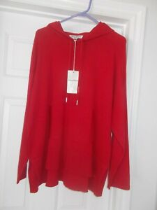 NWT  $135.00 Tommy Bahama Hoodie Sweater in Red. Size L